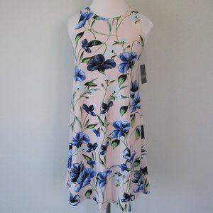 NWT Ralph Lauren Blush Floral Shift Midi Dress 0P